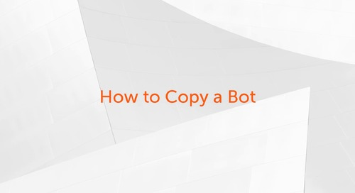 How to Copy a Bot and Use it to Create a New Bot