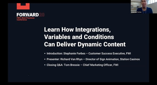 Learn How Integrations Variables and Conditions Can Deliver Dynamic Content