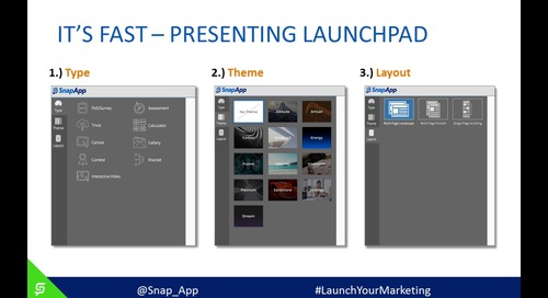Launch Your Marketing With SnapApp