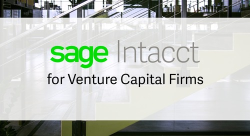 Sage Intacct for Venture Capital Firms