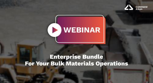 Enterprise Bundle For Your Bulk Materials Operations   Webinar