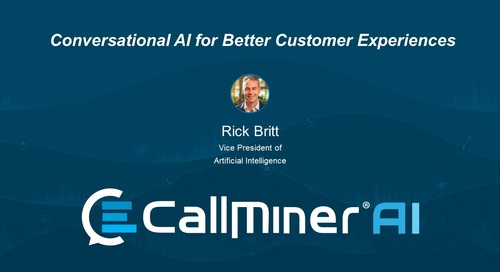Conversational AI for Customer Experience