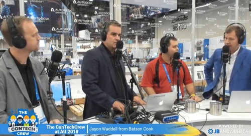 The ConTechCrew at AU 2018: Interview with Jason Waddell from Batson Cook