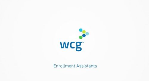 WCG Enrollment Assistants— Relieve the Site Recruitment Burden