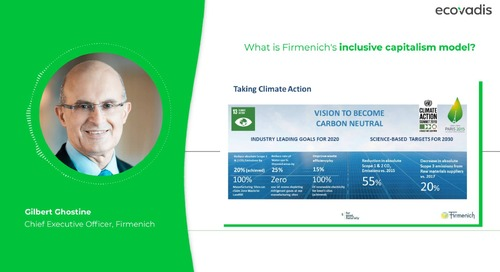 Gilbert Ghostine, CEO Talks About Firmenich's Inclusive Capitalism Model