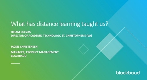 What has distance learning taught us?
