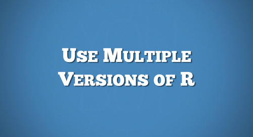 RStudio Server Pro - Use Multiple Versions of R
