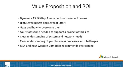 Dynamics AX Fit Gap Advisory Services