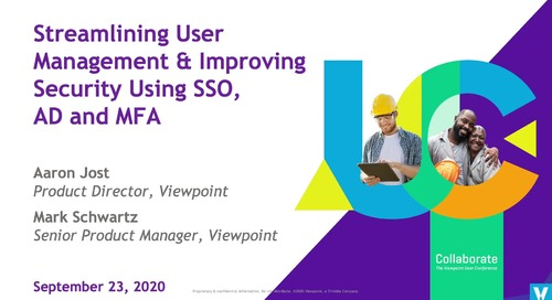 Streamlining User Management & Improving Security Using SSO, AD and MFA- Industry Professional