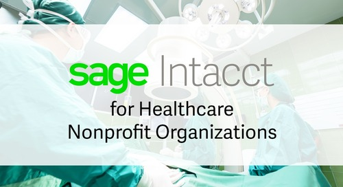 Sage Intacct for Non-Profit Healthcare Organizations