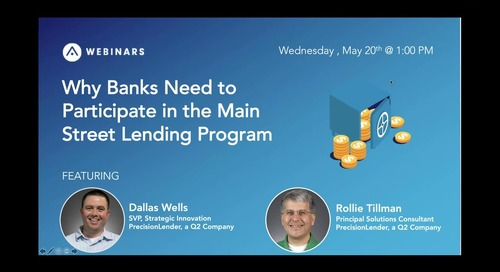 Why Banks Need to Participate in the Main Street Lending Program