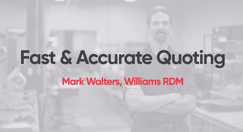 Williams RDM - Fast & Accurate Quoting with M1