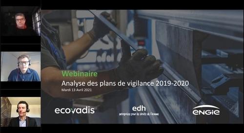 Analyse des plans de vigilance 2019-2020 avec Engie et edh