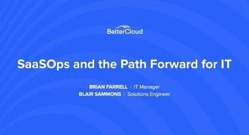 SaaSOps and the Path Forward for IT