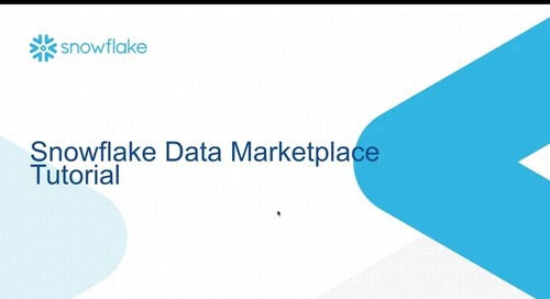 Snowflake Data Marketplace Provider Tutorial