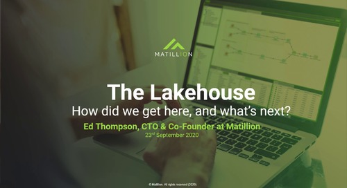 The Lakehouse: How Did We Get Here, and What's Next?