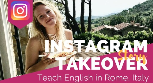 Day in the Life Teaching English in Rome, Italy with Allie Merges
