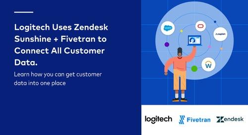 Logitech Uses Zendesk Sunshine + Fivetran to Connect Customer Data