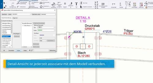 Übersichtszeichnungen in Tekla Structures