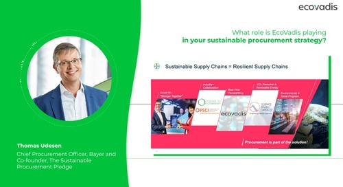 Thomas Udesen, Chief Procurement Officer Discusses How Bayer's Using EcoVadis