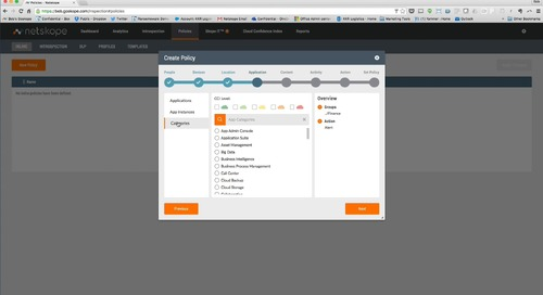 Demo - Netskope Cloud DLP for safely enabling cloud apps