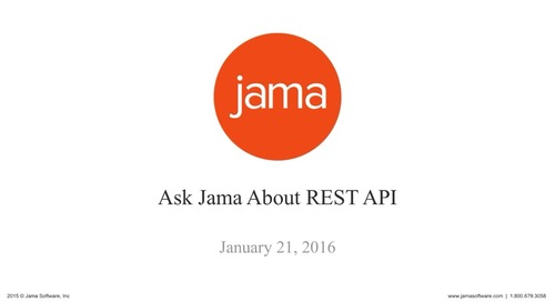 Ask Jama About REST API