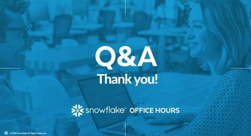 Snowflake Office Hours - SnapAV