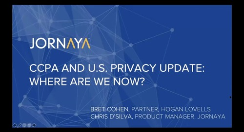 CCPA & US Privacy Update: Where Are We Now?