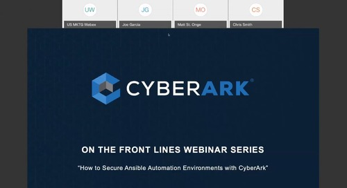 How to Secure Ansible Automation Environments with CyberArk