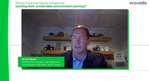 Brad Adams at John Deere Shares 3 Tips To Start A Sustainable Procurement Program