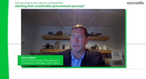Brad Adams at John Deere Shares 3 Tips To Start A Sustainable Procurement Program