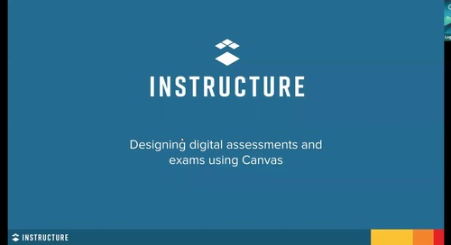 Designing digital assessments and exams using Canvas