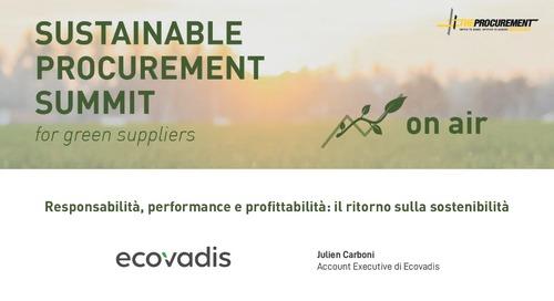 [Webinar The Procurement] Responsabilità, performance e profittabilità: il ritorno sulla sostenibilità
