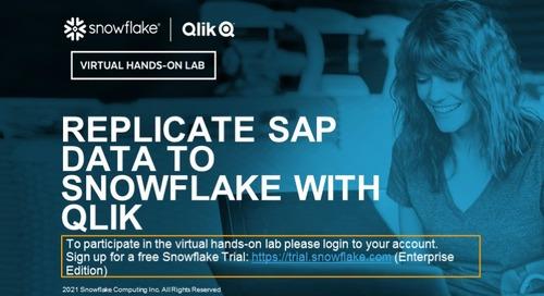 Replicate SAP Data to Snowflake with Qlik - EMEA