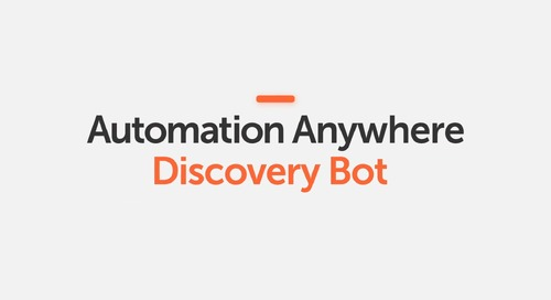 Automation Anywhere Discovery Bot Introduction