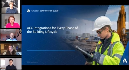 Autodesk Construction Cloud Integrations for Every Phase of the Building Lifecycle