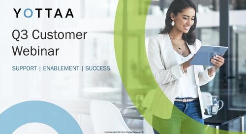 October 2019 Yottaa Customer Webinar