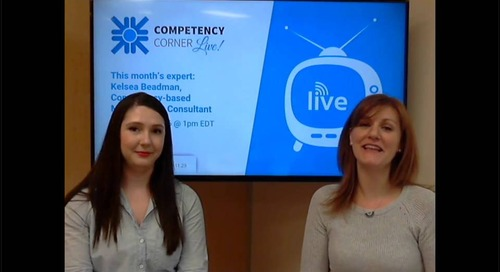 Competency Corner Live with Kelsea Beadman - April 2018