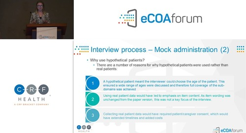 Case Study: eCOA Equivalency Testing - Autism