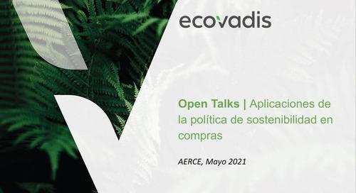 [aerce] Open Talks | Aplicaciones de la política de sostenibilidad en compras