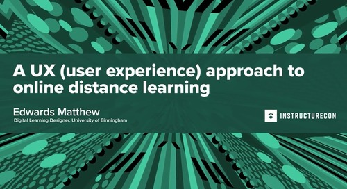 A UX (user experience) approach to online distance learning