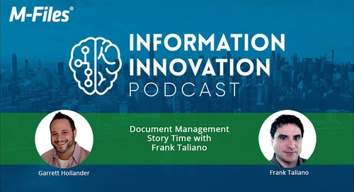Document Management Story Time with Frank Taliano