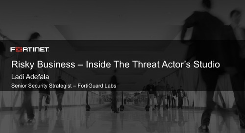 Threat Actors Studio 2017