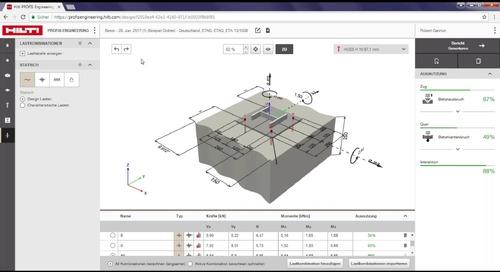 Einführung in Hilti Anchor Design Plug-in für Tekla Structures