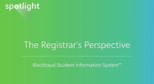 The Registrar's Perspective