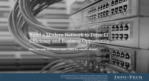 Build a Modern Network Drive IT Efficiency