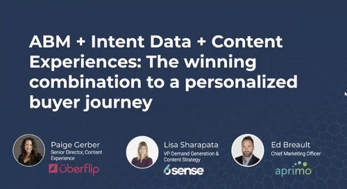ABM + Intent Data + Content Experiences with Uberflip