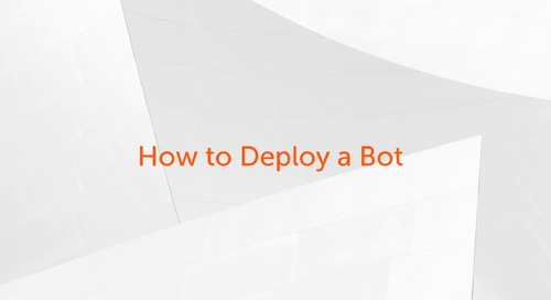 Enterprise A2019 - How to Deploy a Bot