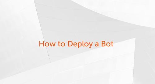 Enterprise A2019 - How to Deploy a Bot