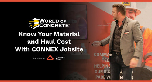 Know Material and Haul Cost With CONNEX Jobsite | WOC 2021